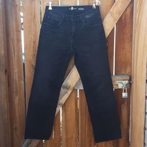 7fam Austin jeans straight fit  sz 31 black